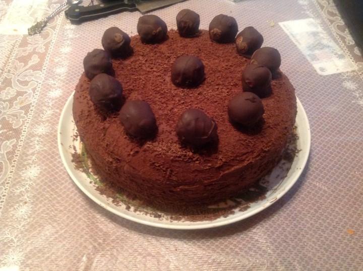 Миниатюра к статье Роскошный шоколадный торт Трюфель