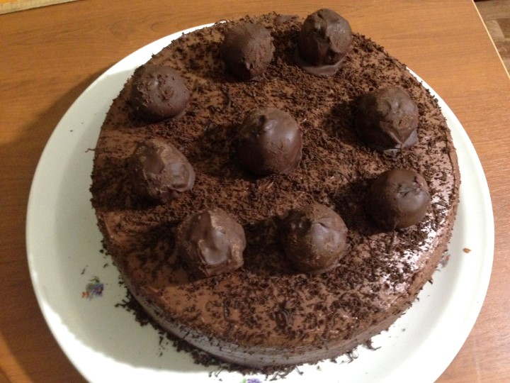 Роскошный шоколадный торт Трюфель