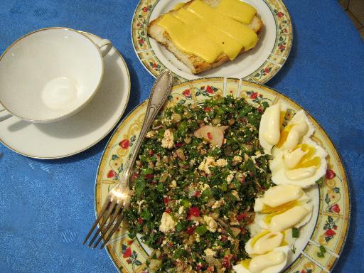 Салат из редиса с брынзой