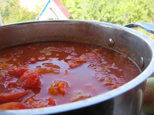 Сваренные помидоры