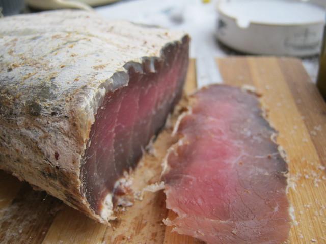 Вяленое мясо, срез