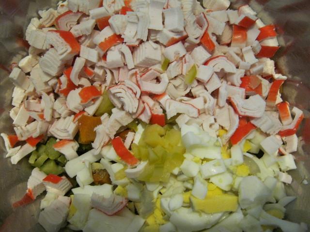 Все продукты для лата из крабовых палочек