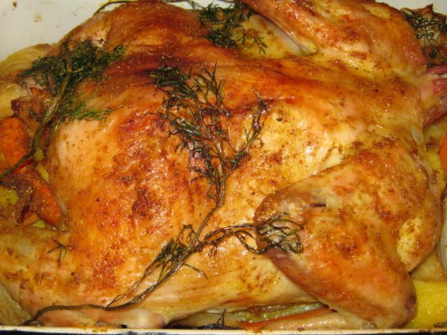 Курица с картофелем в духовке в меню на день рождения