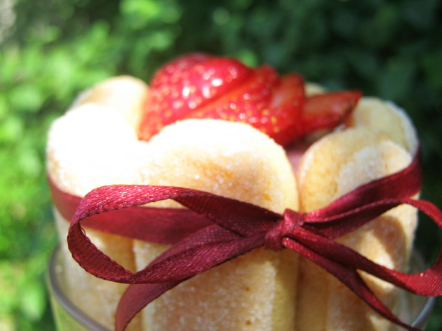 Мини клубничный торт
