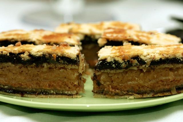 Венгерский песочный пирог Флодни, фото
