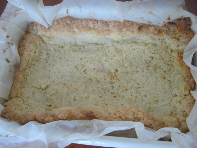 Пирог с ягодами - песочная основа