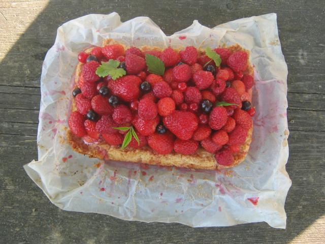 Пирог я ягодами, рецепт с фото