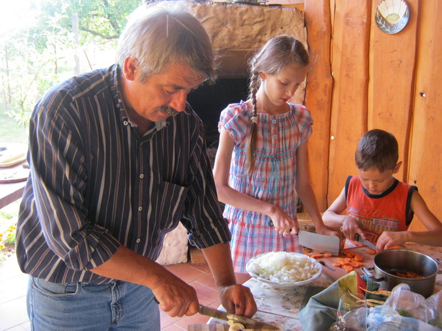 Бограч - шинковка овощей