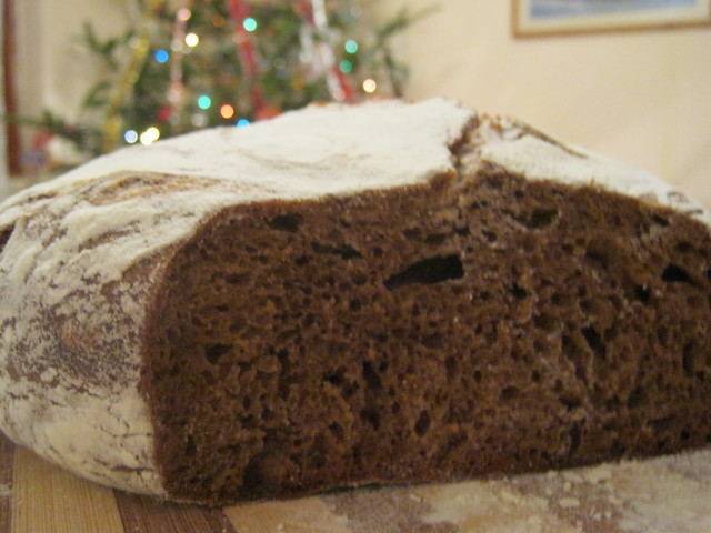 Хлеб на разрезе
