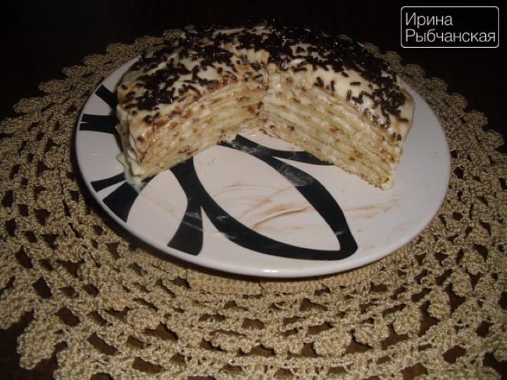 Миниатюра к статье Блинный торт с заварным кремом