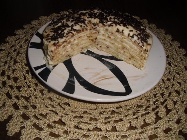 Блинный торт с заварным кремом—  и в пир, и в мир