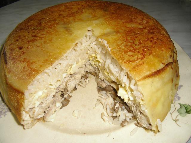 Курник из блинов с курицей и грибами— обыкновенное чудо