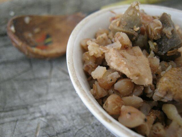 Гречневая каша с грибами и луком— простой без изысков рецепт