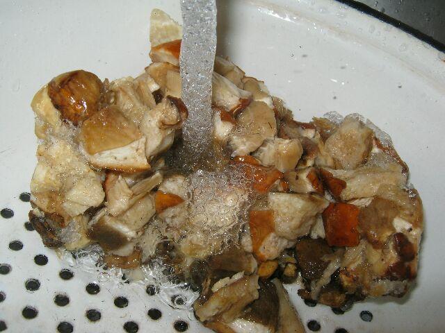 Подставляем шрибы под струю воды