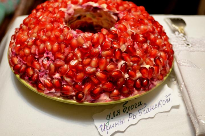 Классический салат Гранатовый браслет, фото