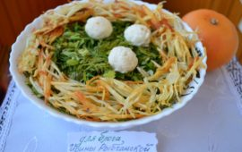 Рецепт салата Гнездо глухаря с пошаговыми фото