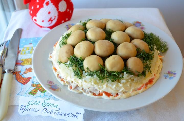 Рецепт салата лесная поляна с фото: повысьте рейтинг своих кулинарных способностей