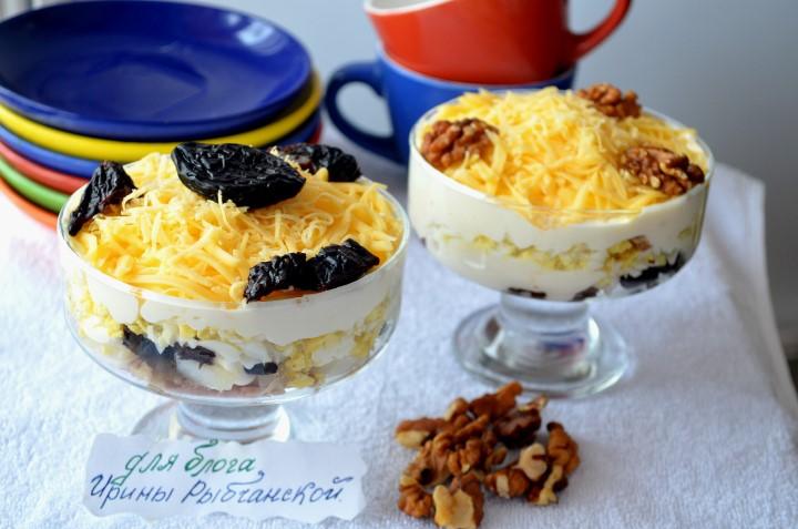 Салат Нежность с курицей и черносливом: идеален для любителей контрастных вкусов