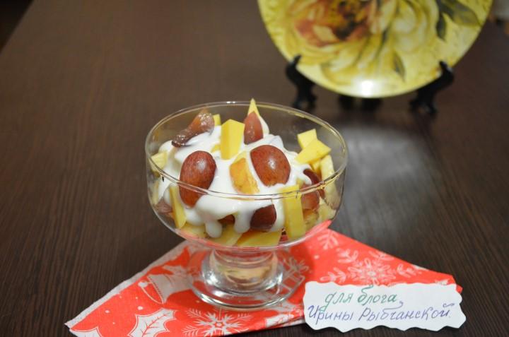 Рецепт фруктового салата с йогуртом: ингредиенты и варианты приготовления