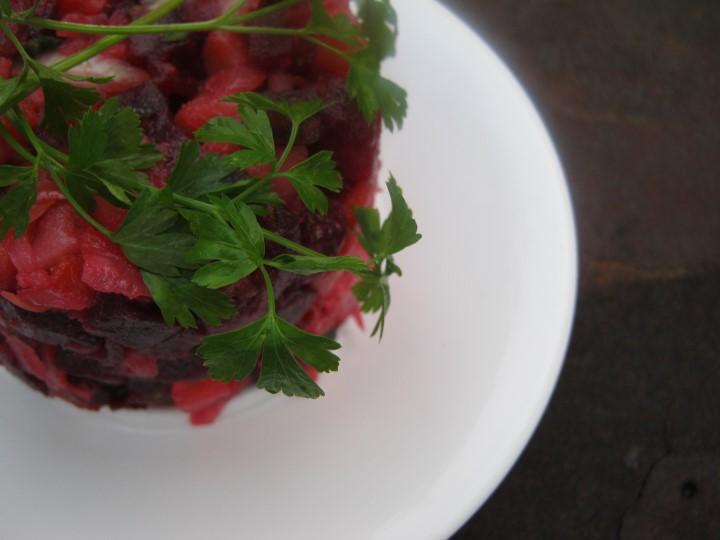 Миниатюра к статье Почти безупречный рецепт винегрета с квашеной капустой