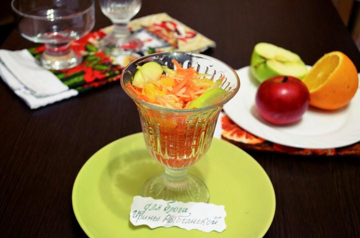 Замечательные витаминные рецепты салата с морковью и яблоком