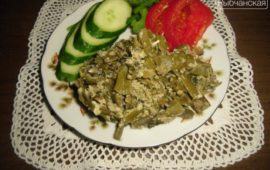 Традиционное грузинское лобио из зеленой стручковой фасоли