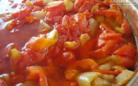 Самый простой рецепт лечо из помидоров и перца на зиму