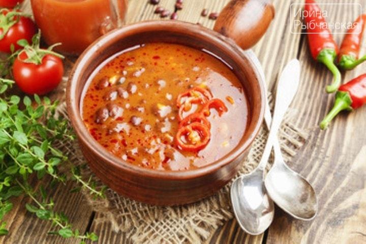 фасолевый суп рецепт из красной фасоли с курицей рецепт с фото