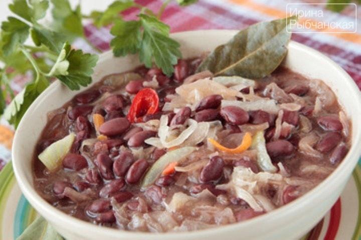 Фасолевый суп рецепт из красной фасоли с курицей рецепт пошаговый