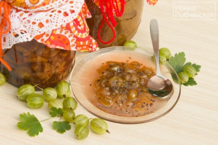 Варенье из крыжовника с цитрусовыми