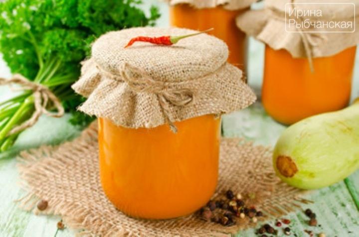 Кабачковая икра с майонезом на зиму— рецепт с томатной пастой