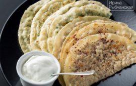 Рецепт кутабов с зеленью и сыром по-азербойджански