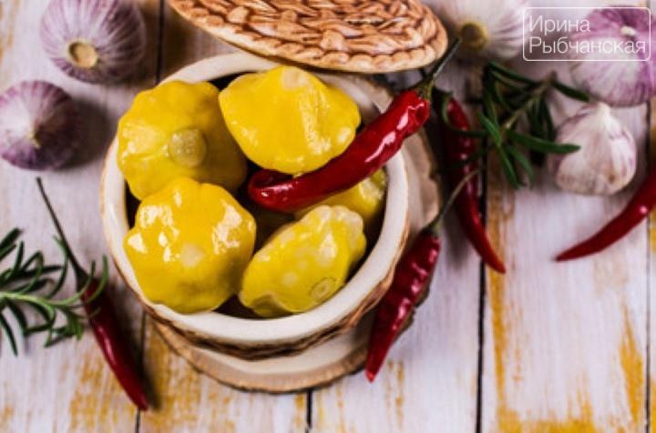Хрустящие патиссоны маринованные на зиму— рецепт необыкновенной вкусноты