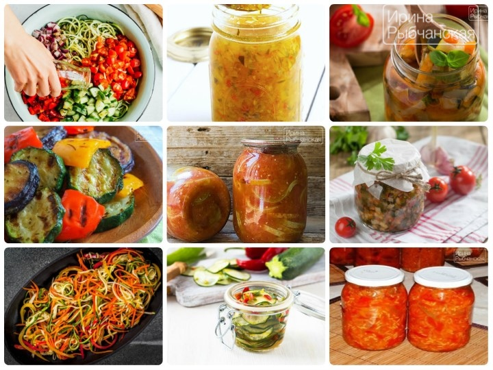 Вкусные рецепты салата из кабачков на зиму