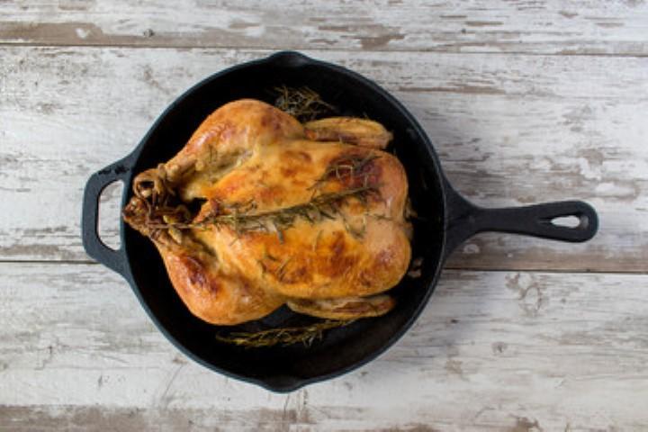Курица запеченная в духовке целиком по рецептуМартина Берасатеги