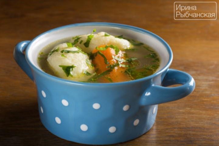 Пошаговый рецепт с фото супа с галушками