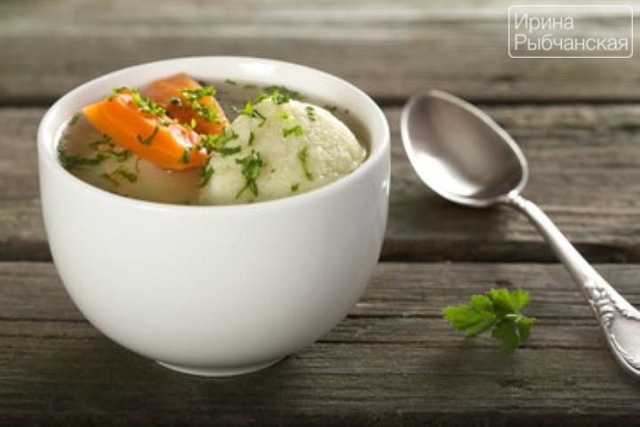 Суп с галушками для воскресного обеда— пошаговый рецепт с фото