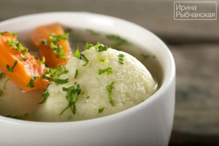 Рецепт с фото супа с галушками
