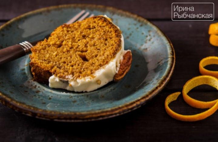 Постный морковный кекс - рецепт