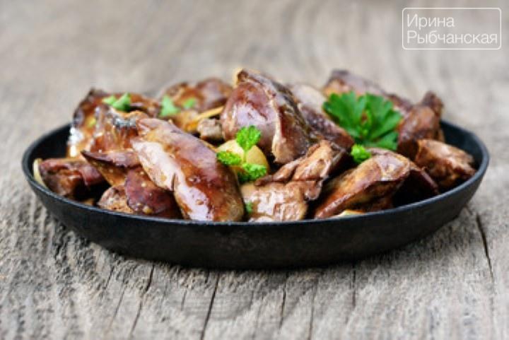 Миниатюра к статье Куриная печень жареная с луком— рецепты для жизнерадостных гурманов