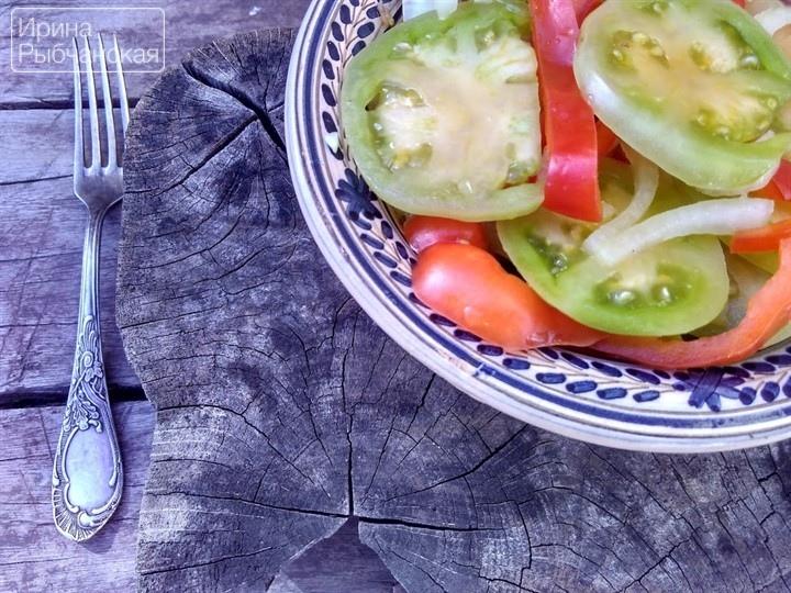 Салат из зеленых помидор на зиму Донской