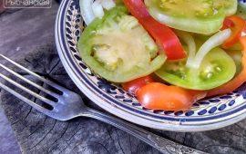 Салат из зеленых помидор на зиму— мои излюбленные рецепты