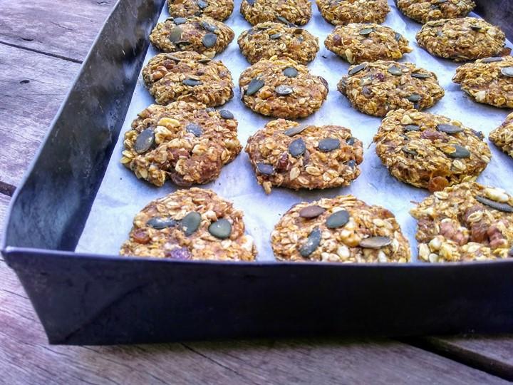 Готовое постное овсяное печенье